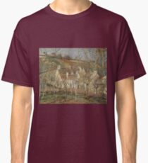 Red Roofs Corner of a Village Winter 1877 Camille Pissarro Classic T-Shirt