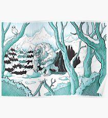 Wandering Yeti Poster