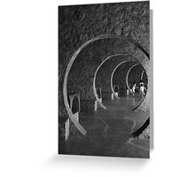 Playing Tunnels Greeting Card