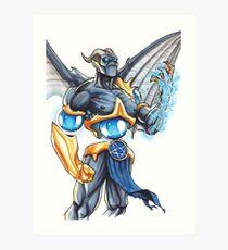 Demonic Cyborg Art Print
