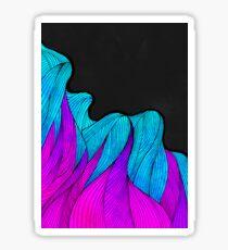 The vibrant wave Sticker