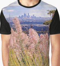 Perth Hills with Wildflowers  Graphic T-Shirt