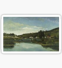 The Marne at Chennevières 1864 The Marne at Chennevières Sticker