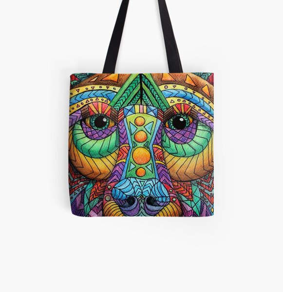 Bear All Over Print Tote Bag