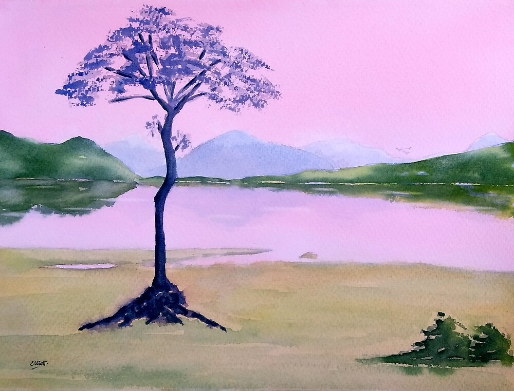 The Lone Tree by Pat  Elliott