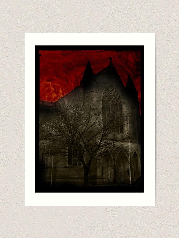 Alternate view of St Davids Church, Hobart Art Print