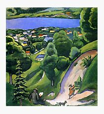 Landscape on the Tegernsee with a Reading Man 1910 August Macke Photographic Print