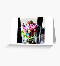 Flowers vase 1 Greeting Card