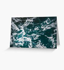 Wild Ocean Waves II Greeting Card