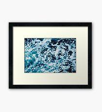 Turquoise Blue Ocean Waves Framed Print