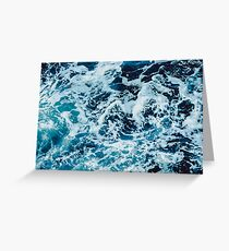 Turquoise Blue Ocean Waves Greeting Card