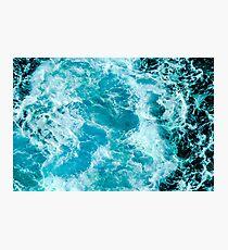 Crush - Turquoise Blue Ocean Sea Waves Photographic Print