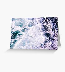 Hypnotic Ocean Sea Waves Greeting Card