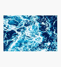 Turquoise Ocean Wave - Electric Marbled Seas Photographic Print