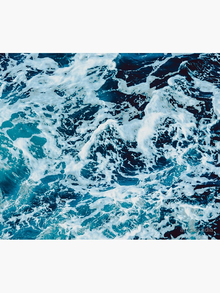 Turquoise Blue Ocean Waves by artcascadia