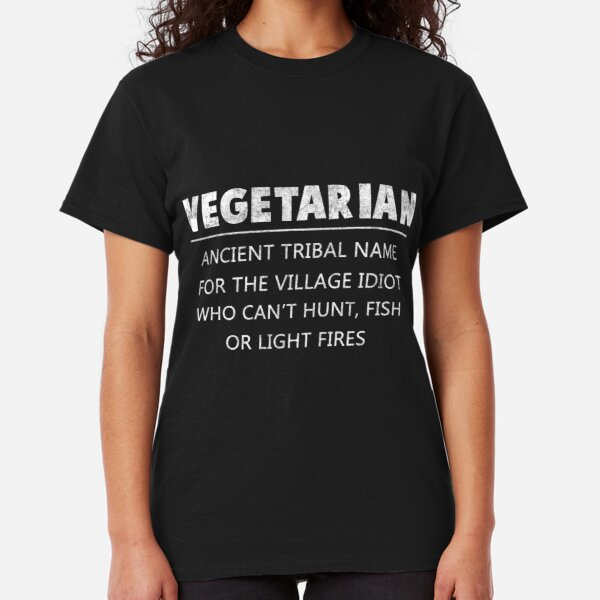 Funny Vegetarian Eat Meat T shirt Parody Rude Joke New Mens Novelty Gift Tee Top