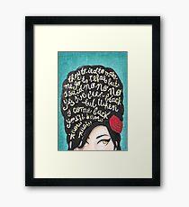 Rehab Framed Print