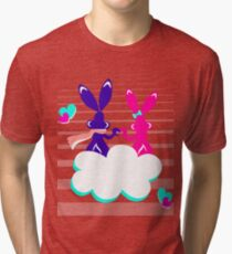 Love is.. / Couple of bunnies in love  Tri-blend T-Shirt