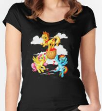 Apple Transport Trouble Women's Fitted Scoop T-Shirt