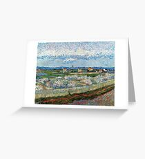 The Crau with Peach Trees in Bloom 1889 Vincent Van Gogh Greeting Card