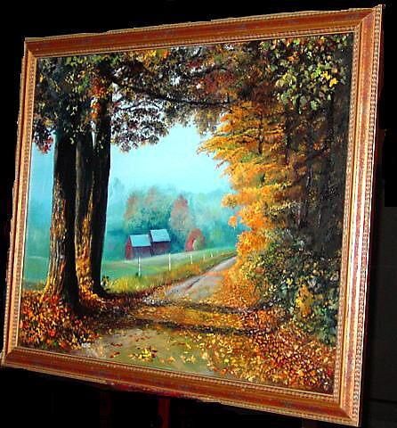 AUTUMN ROAD IN VERMONT by William Hosie