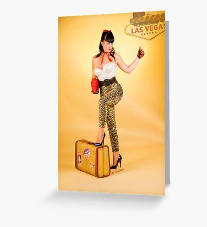 Vegas or Bust Greeting Card