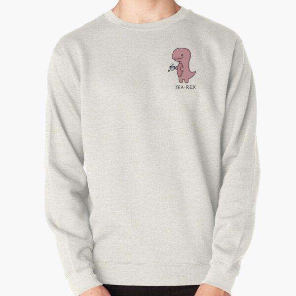 'Tea-Rex' Illustration Pullover Sweatshirt