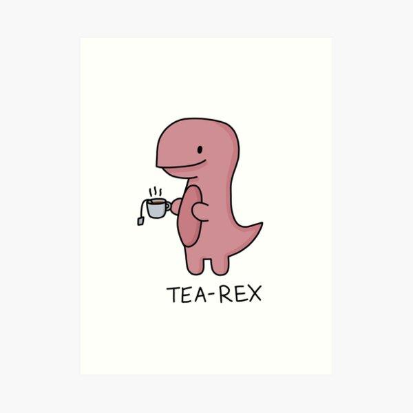 Ilustración 'Tea-Rex' Lámina artística