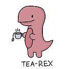 «Ilustración 'Tea-Rex'» de bloemsgallery