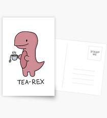 Postales Ilustración 'Tea-Rex'