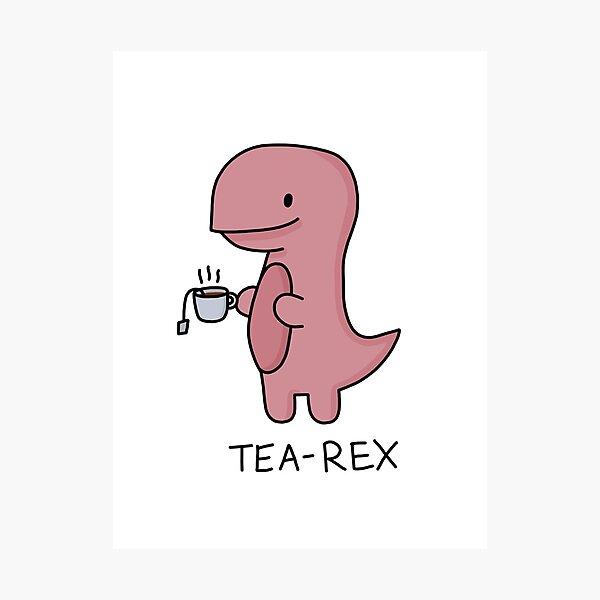 Ilustración 'Tea-Rex' Lámina fotográfica