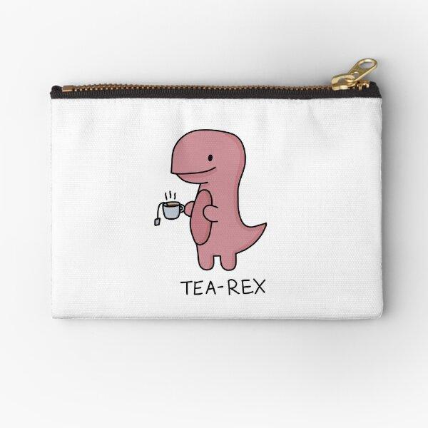 'Tea-Rex' Illustration Zipper Pouch