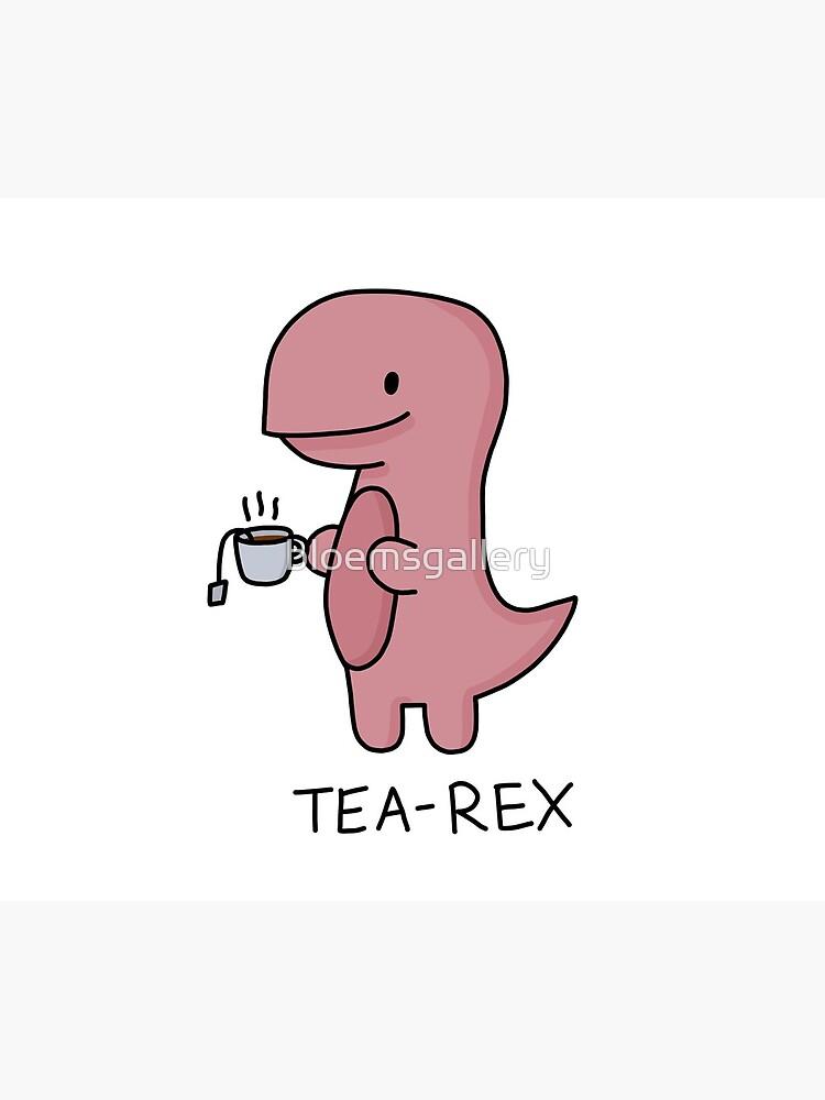 'Tea-Rex' Illustration by bloemsgallery