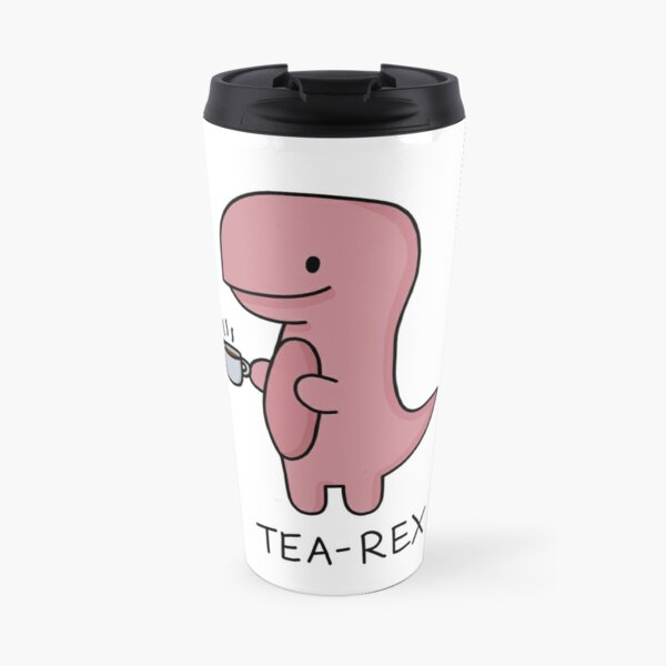 'Tea-Rex' Illustration Travel Mug