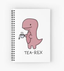 'Tea-Rex' Illustration Spiral Notebook