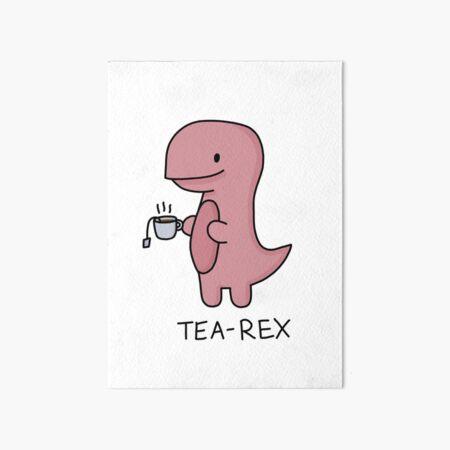 'Tea-Rex' Illustration Art Board Print