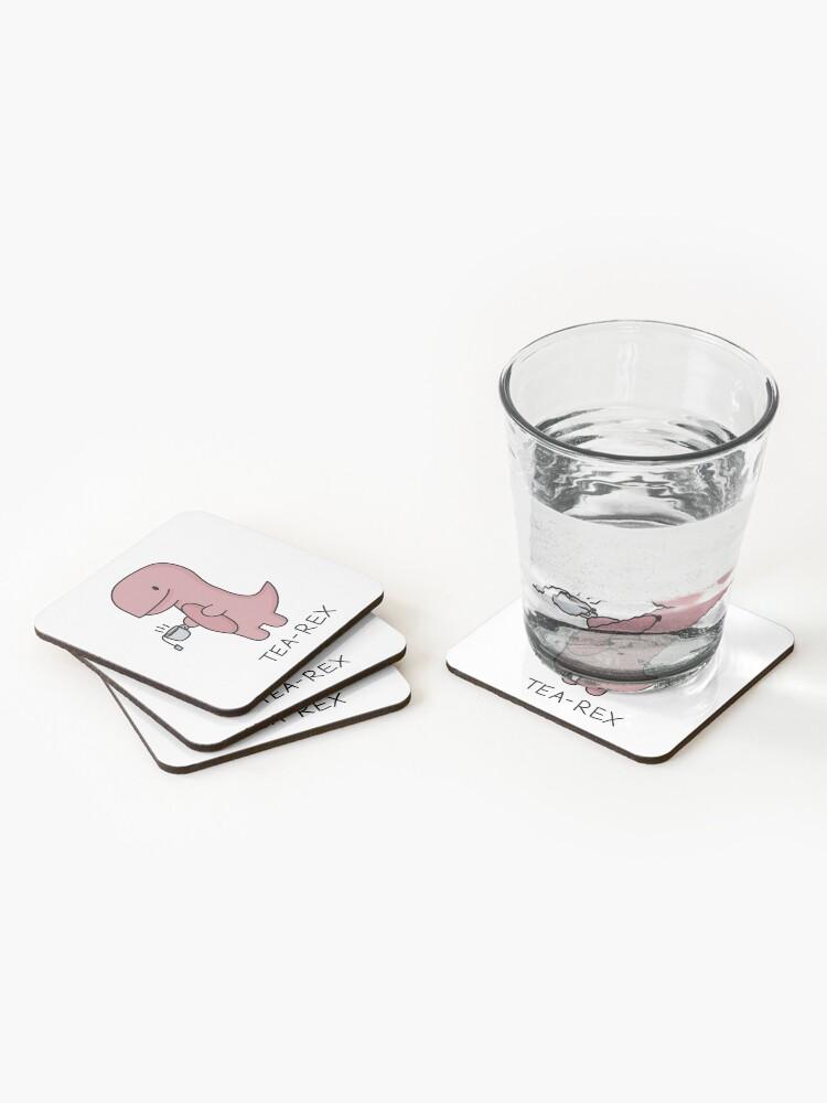Alternate view of 'Tea-Rex' Illustration Coasters (Set of 4)