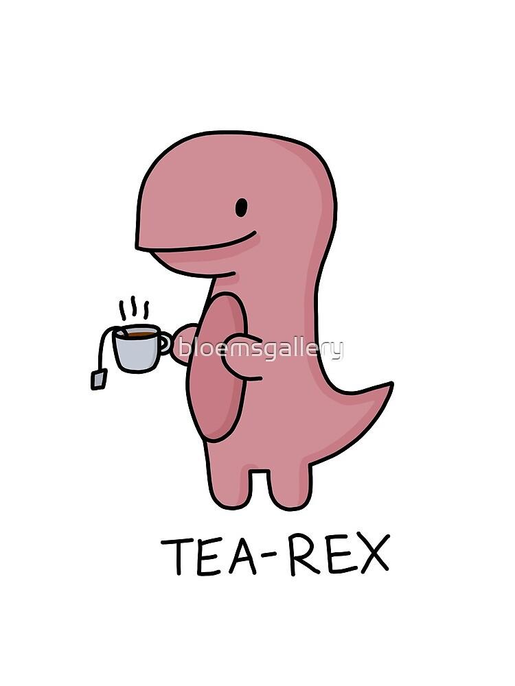 Ilustración 'Tea-Rex' de bloemsgallery