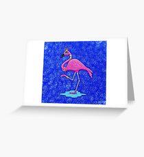 Fancy Francie Flamingo Greeting Card