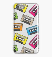 Pattern with retro audio cassette iPhone Case/Skin