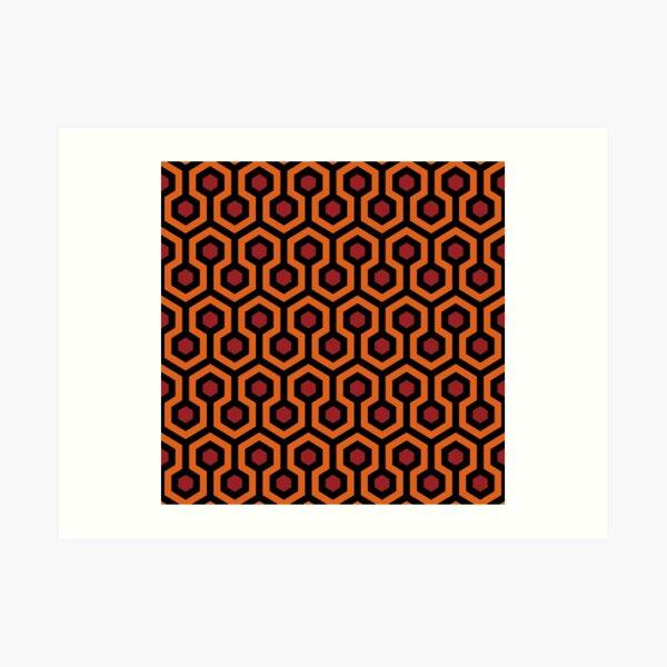 Alfombra con vista al hotel de The Shining: naranja / rojo / negro Lámina artística