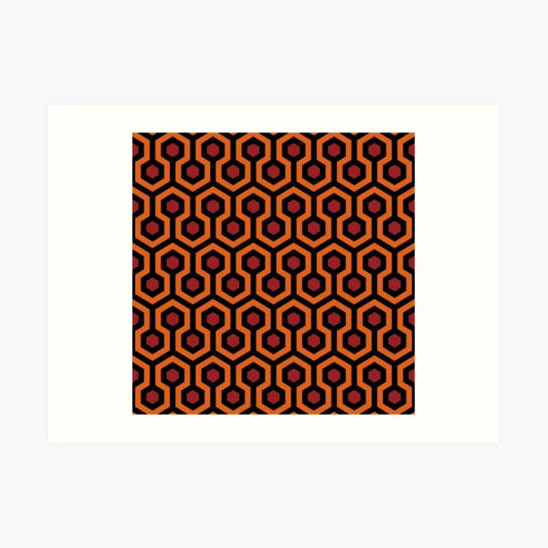 Tapis d'hôtel Overlook de The Shining: orange / rouge / noir Impression artistique