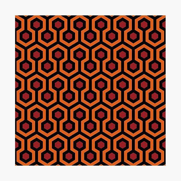 Overlook Hotel Carpet from The Shining: Orange/Red/Black Photographic Print