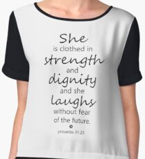 Christian Quote Women's Chiffon Top