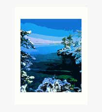Lake Tahoe in winter Art Print