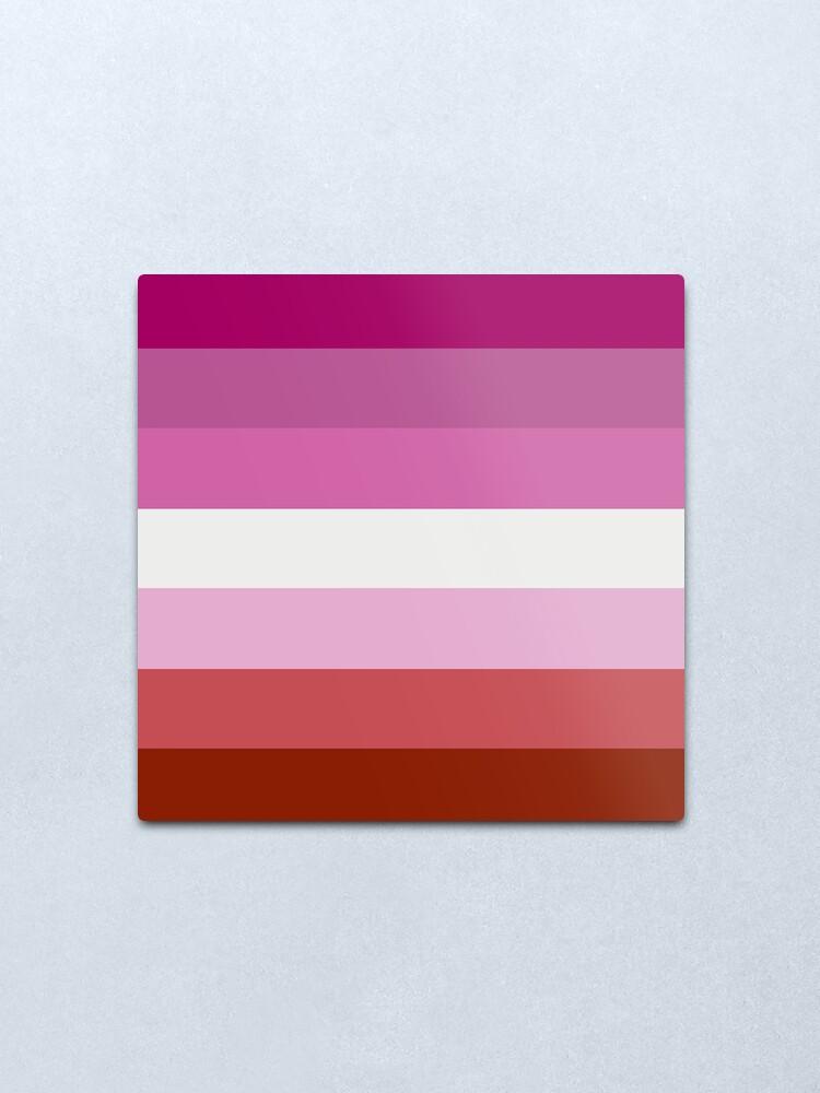 Alternate view of Lesbian Pride Flag Metal Print