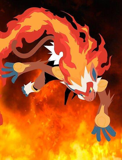 blaze infernape pokémon posters by srwhiteps redbubble