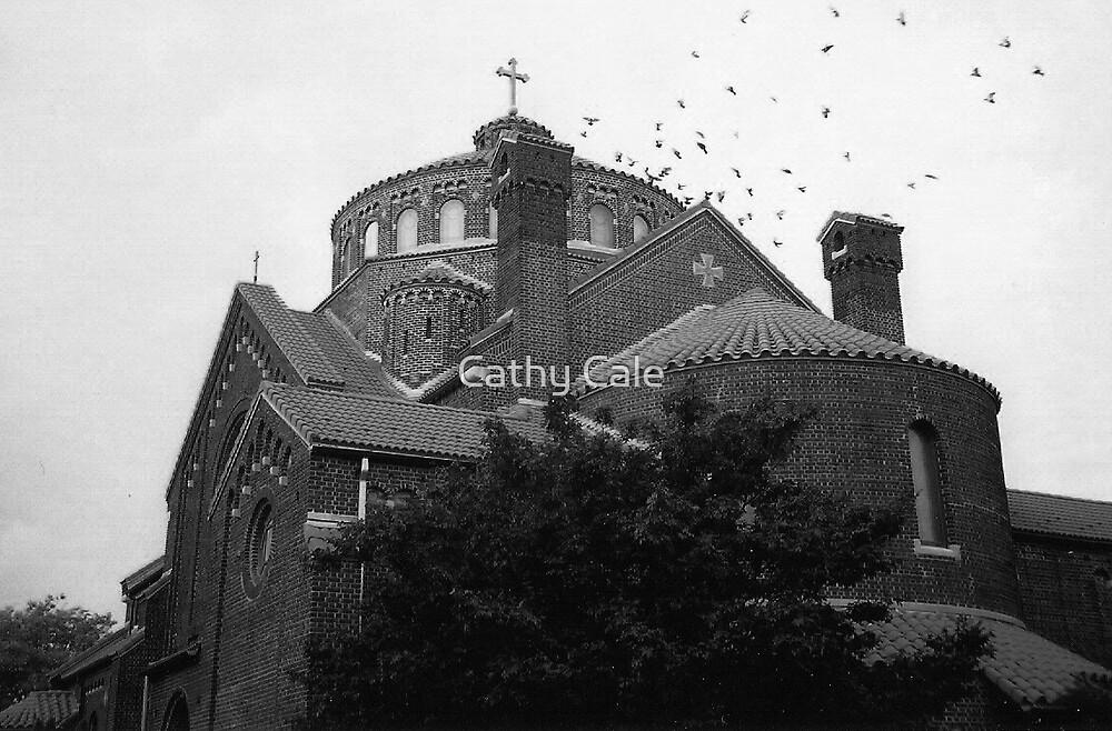 Catholic Church in North Babylon, NY by Cathy Cale