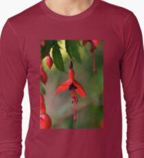 Single Wild Fuchsia Flower, Loch Na Fooey Long Sleeve T-Shirt