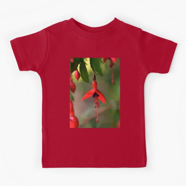 Single Wild Fuchsia Flower, Loch Na Fooey Kids T-Shirt